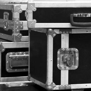 aluminium wooden flight case for DJ box, instrument tools